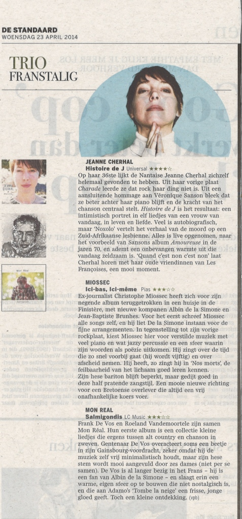 Review De Standaard 23/4/2014