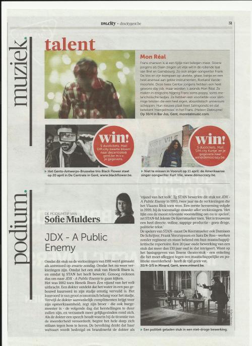 in Het Nieuwe DeMorgencity tijdschrift ....